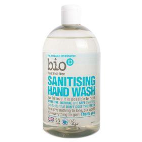 Fragrance Free Sanitising Hand Wash 6x500ml