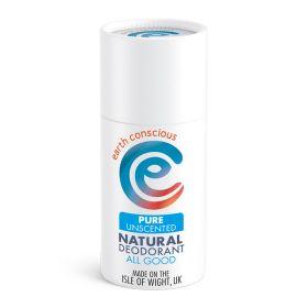 Pure Unscented Natural Deodorant Stick 6x60g