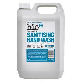 Fragrance Free Sanitising Hand Wash 1x5lt