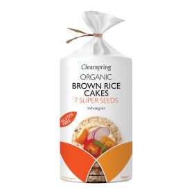 Brown Rice Cakes 7 Super Seeds - Organic 6x120g