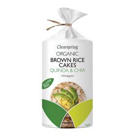 Brown Rice Cakes Quinoa & Chia - Organic 6x120g