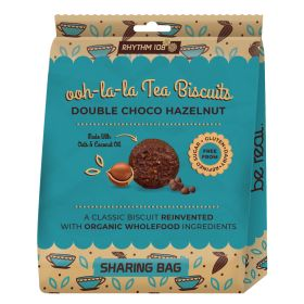 Double Chocolate Hazelnut Biscuits Share Bag - Organic 8x135