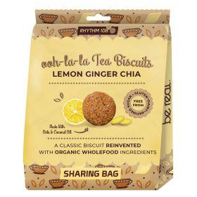 Lemon Ginger Chia Biscuits Share Bag - Organic 8x135g