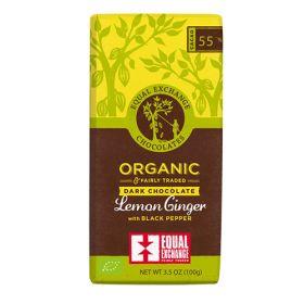 Dark Chocolate with Lemon, Ginger, & Pepper - Organic 12x100