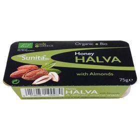 Honey Halva with Almonds - Organic 12x75g