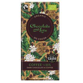Coffee Chocolate 55% - Organic 14x80g