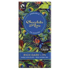 Rich Dark Chocolate 71% - Organic 14x80g