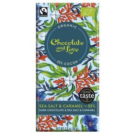 Sea Salt & Caramel Chocolate 55% - Organic 14x80g