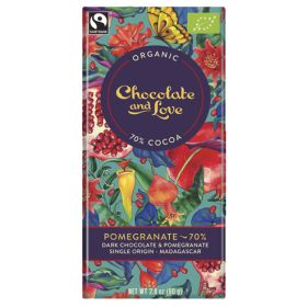 Pomegranate Chocolate 70% - Organic 14x80g