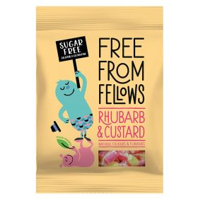Free From Fellows Rhubarb & Custard Hard Boiled Sweets 10x70