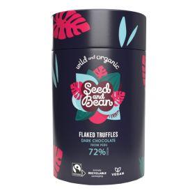 72% Dark Chocolate Flaked Truffles - Organic 1x150g