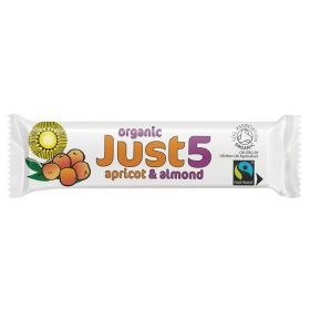 Just 5 Apricot & Almond Bar - Organic 18x40g