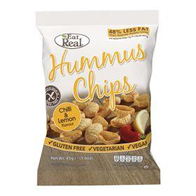 Hummus Chips Chilli & Lemon 12x45g