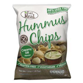 Hummus Chips Creamy Dill 10x135g