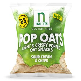 GF Popped Oat Chips Sour Cream & Chive 14x20g