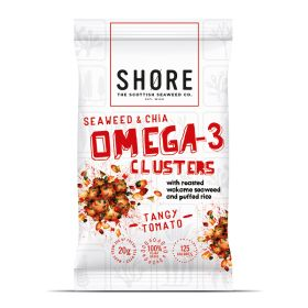 Seaweed & Chia Omega 3 Clusters - Tangy Tomato 12x30g