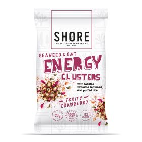 Seaweed & Oat Energy Clusters, Fruity Cranberry 12x30g