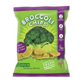 Fresh Broccoli Chips with Sour Cream & Chives 24x24g