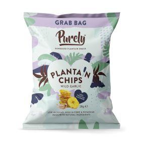 Purely Plantain Chips - Wild Garlic 20x28g