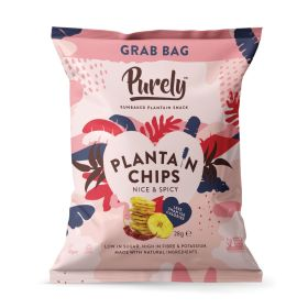 Purely Plantain Chips - Nice & Spicy 20x28g