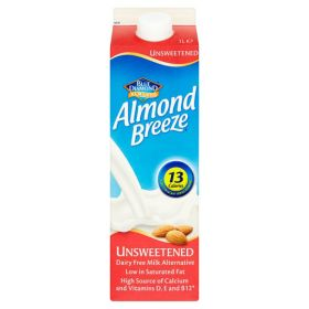 Almond Breeze Unsweetened Drink 8x1lt