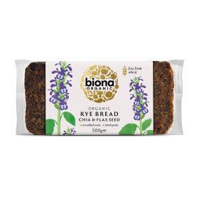 Rye Bread with Chia & Flax Seed - Organic 6x500g