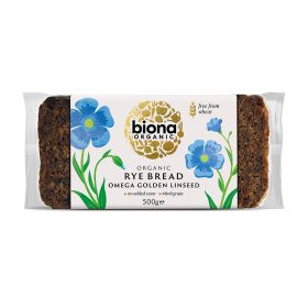 Rye Omega Bread with Golden Linseed - Organic 6x500g