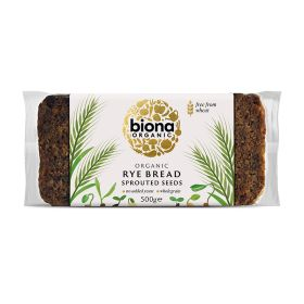 Vitality Rye Bread with Sprouted Seeds - Organic 6x500g