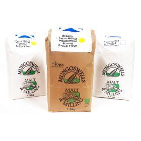 Strong White Bread Flour - Farm Milled & Organic 6x1.5kg