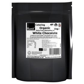 Vegan White Chocolate Drops  - Organic 1x1kg