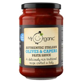 No Added Sugar - Olives & Capers Pasta Sauce - Organic 6x350