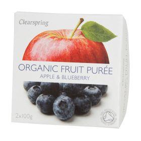Apple & Blueberry Puree - Organic 12x2x100g