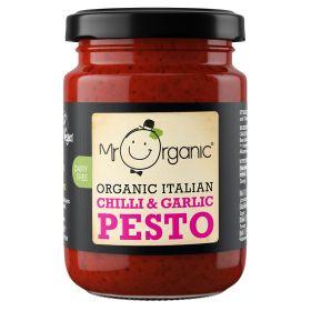 Chilli & Garlic Pesto - Organic 6x130g