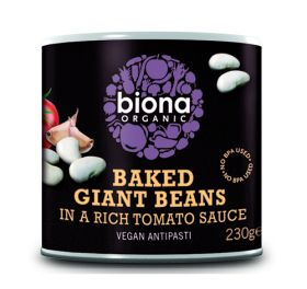 Baked Giant Beans in Tomato sauce - Organic 6x230g