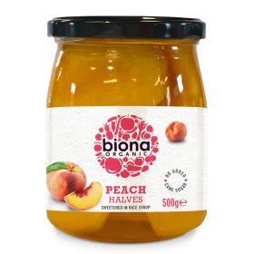 Peach Halves in Rice Syrup - Organic 6x550g