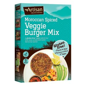 Moroccan Spiced Gluten Free Veggie Burger Mix 6x200g