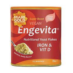 Iron & Vit D Yeast Flakes 6x125g