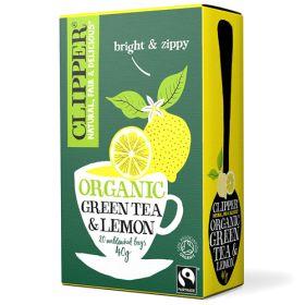 Green & Lemon Tea Bags FTM - Organic 6x20