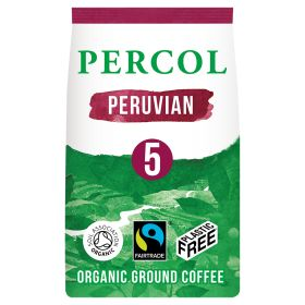 Bold Peruvian Ground Coffee Plastic Free - Organic 6x200g