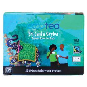 Green Ceylon Pyramid Tea Bags FTM - Organic 24x20