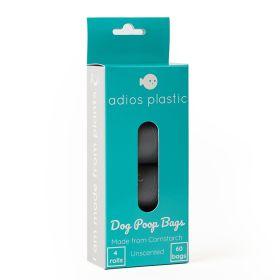 Compostable Dog Poop Bags - Grey 12x4 rolls