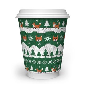 12oz Fox Double Wall Cups (89-Series) - Compostable 1x25