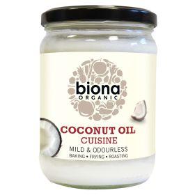 Mild Coconut Oil Cuisine (Odourless) - Organic 6x470ml