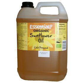 Sunflower Oil - Unrefined - Organic 1x5lt