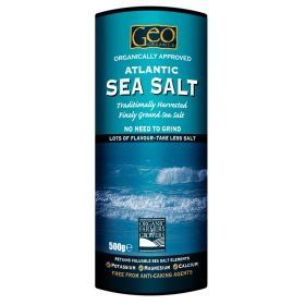 Atlantic Fine Sea Salt- Organic Approved 6x500g