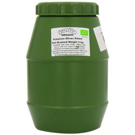 Pitted Kalamata Olives - Organic 1x2kg