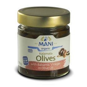 Kalamata Olives in Balsamic Vinegar & EVOO - Organic 6x185g