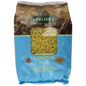 White Gomitini (Macaroni) Pasta - Organic 12x500g