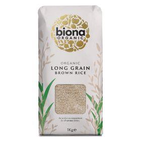 Long Grain Brown Rice - Paper Bag - Organic 6x1kg