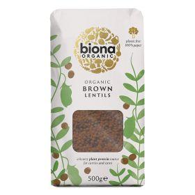 Brown Lentils - Paper Bag - Organic 6x500g